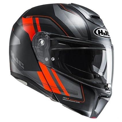 HJC casco Moto Rpha 90 tanisk mc6hsf, color negro/rojo, talla L