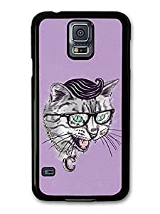 AMAF ? Accessories Funny Cat With Sunglasses Gang Illustration case for Samsung Galaxy S5