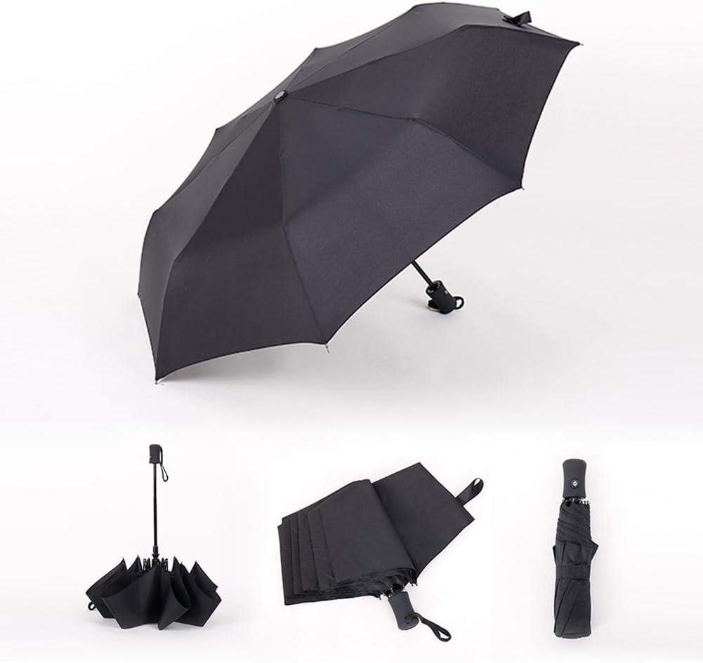 8 Ribs Auto Open and Close Automatic Folding Sunshade Umbrella for Men and Women clarifylay Windproof Travel Folding Umbrella Black