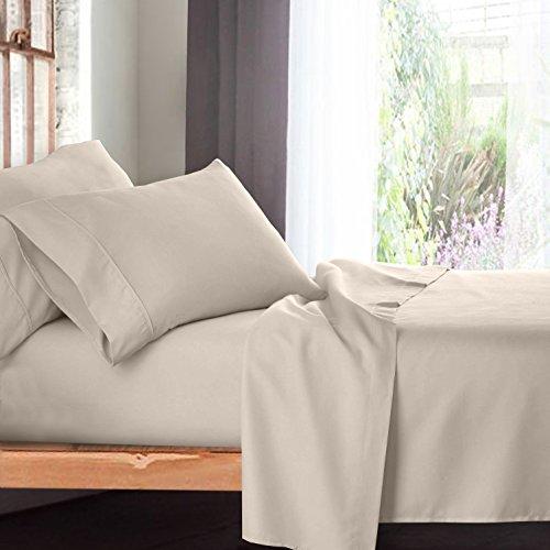 Bed Sheets Bedding King Cream Beige