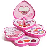 IQ Toys Little Fairy Princess Washable Makeup and Nail Heart Palette with Mirror