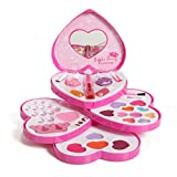 Little Fairy Princess Washable Makeup And Nail Heart Palette With Mirror