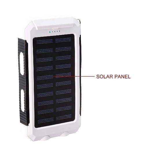 Amazon.com: ZCHXD Solar Charger, 1.5W 8000mAh Dual USB Power ...