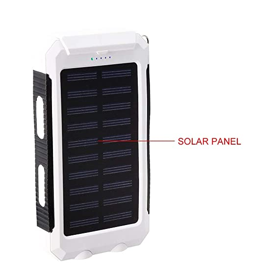 Amazon.com: ZCHXD Solar Charger, 1.5W 8000mAh Dual USB Power ...