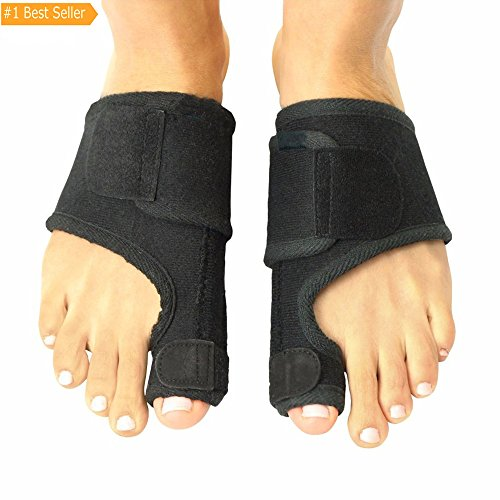 Fanprod Bunion Corrector And Bunion Splint Corrector Brace Pad  Big Toe Straightener  Hammertoe  Hallux Valgus  Foot Pain Relief  Bunion Night Support For Men And  Women  With Adjustable Velcro  1 Pair