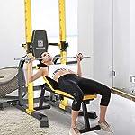 Dip-Stand-Pull-up-Nazionale-Indoor-Orizzontale-Bar-Multifunzionale-Fitness-Equipment-Squat-Bench-Press-Bilanciere-Staffa-Color-Yellow-Size-104-80-208cm