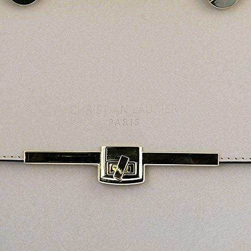 Christian Laurier - Sac à main en cuir modèle Alicia beige - Sac à main haut de gamme fabriqué en Italie