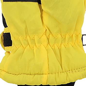 Insulated Curve Design Ski Gloves for Youth Green