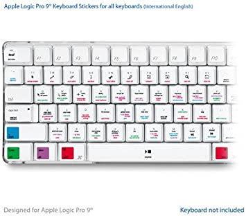 Apple Logic Pro 9 Laptop clave Atajos de Teclado Pegatinas ...
