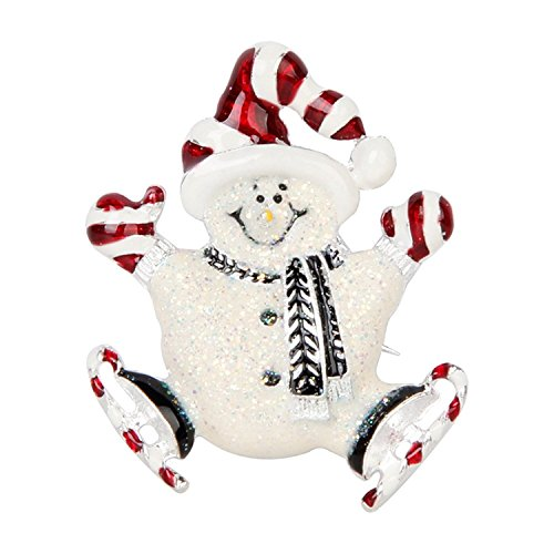 Fashion Style for Home Christmas Brooch for Women Elegant Colourful Rhinestones Christmas Snowman Brooch Pin Corsage for Xmas