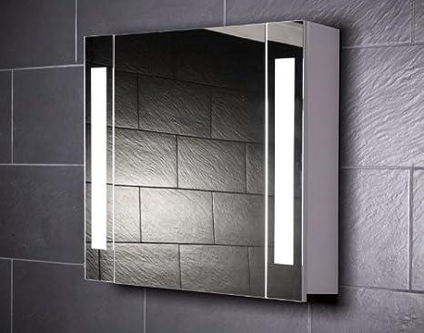 Galdem Curve80 Spiegelschrank Holz 80 X 70 X 15 Cm Weiss