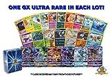 Pokemon Lot of 100 Cards - GX Rares - Foil Rares! Includes Golden Groundhog Deck Box!