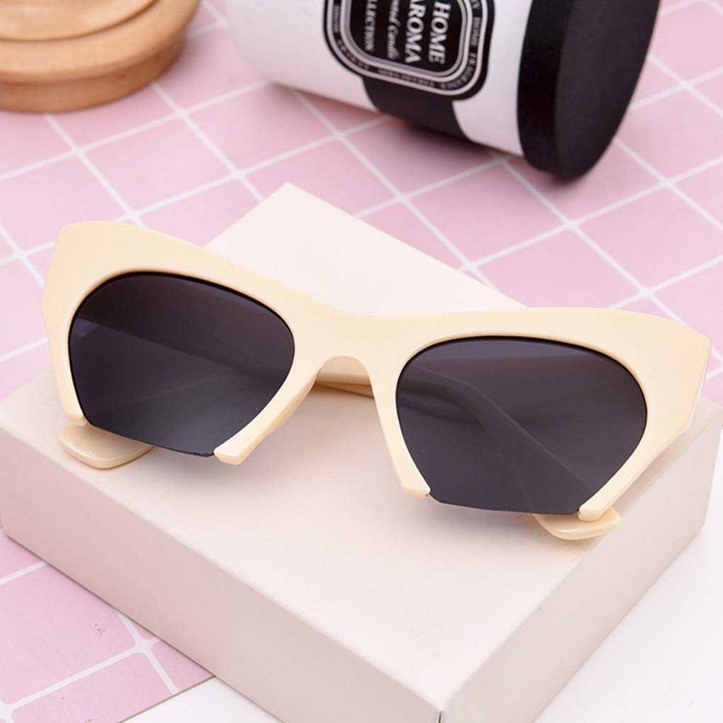 Women Lady Sunglasses Streetwear PC Frame Lens Girls UV400 Eyeglasses Summer Driving Eyewear
