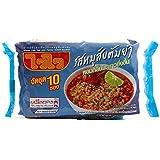 """タイのインスタントラーメン """"WAI WAI"""" INSTANT NOODLES TOM YUM PORK 60G. PACK 10"""