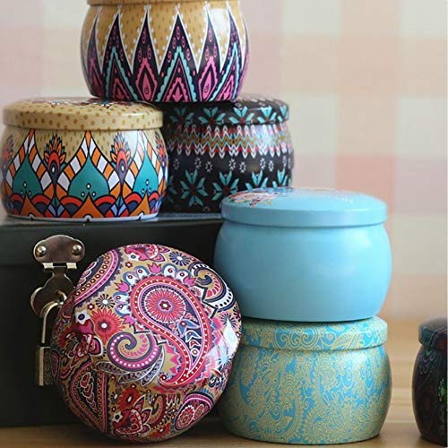 Aland Candy Case,Lovely Mini Tinplate Party Candy Cookies Gift Tea Storage Box Round Container 8# by Aland (Image #2)