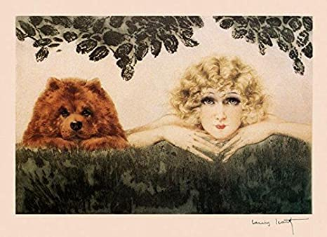 "Icart Fashion Blond Lady Selling Birds Paris French 16/""X20/"" Art Poster FREE SH"