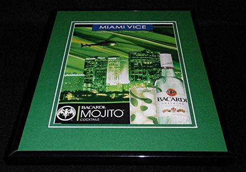 (2006 Bacardi Mojito Cocktails Framed 11x14 ORIGINAL Advertisement)