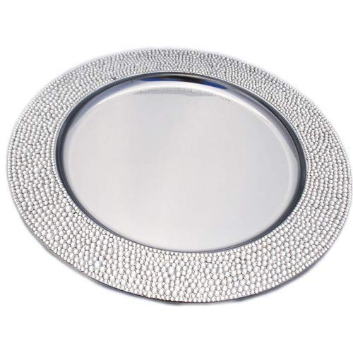 Sparkles Home S-370-Clear Rhinestone Charger Plate, Clear