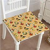 Egg Carton Bed Foam Mikihome Premium Comfort Seat Cushion with Six King Mask Hero Goose Twig Design Yellow Orange Black Cushion for Office Chair Car Seat Cushion 32