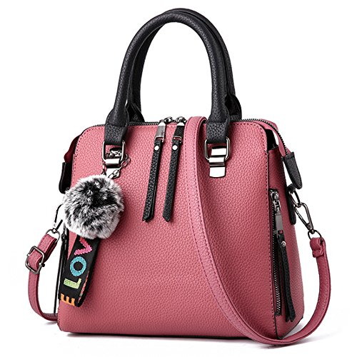 Purses Pink Women Large Messenger Bag Satchel Handbags Ladies Purses Bags Tote 7qUAqvwY