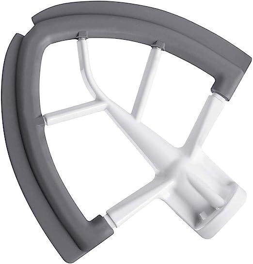 Flex Edge Beater for KitchenAid Tilt-Head Stand Mixer, 4.5-5 Quart Flat Beater Paddle with Flexible Silicone Edges Bowl Scraper