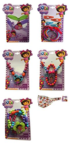 Dora the Explorer Fun Set Necklace Bracelet Hair Clips Ties Headband 16 pcs.