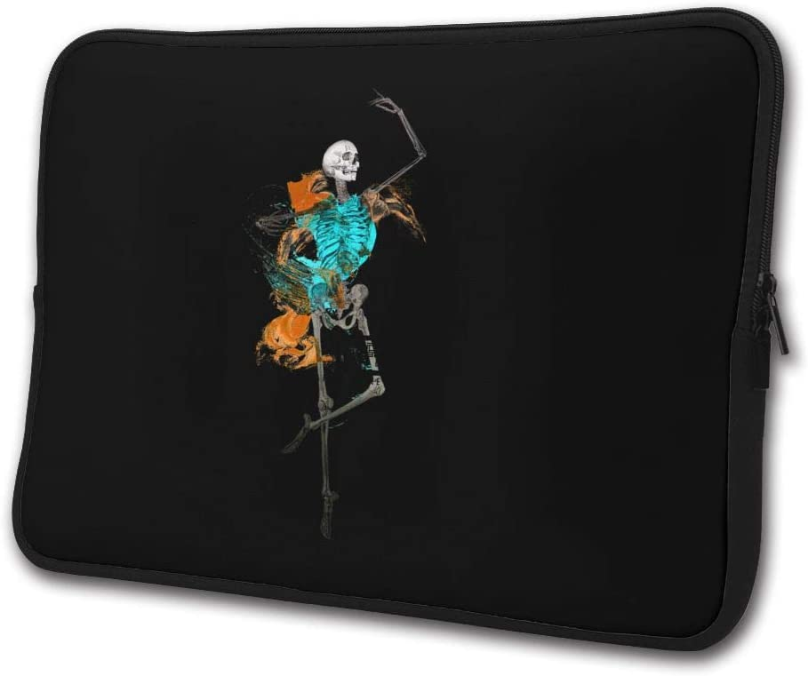Yongchuang Feng Fun Dancing Skeletons Illustration Sleeve Laptop Bag Tablet Case Handbag Notebook Messenger Bag for Ipad Air MacBook Pro Computer Ultrabook 13-15 Inches