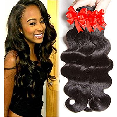 Aliglossy hair products Brazilian virgin hair body wave 3 bundles deals 100 percent human hair natural color