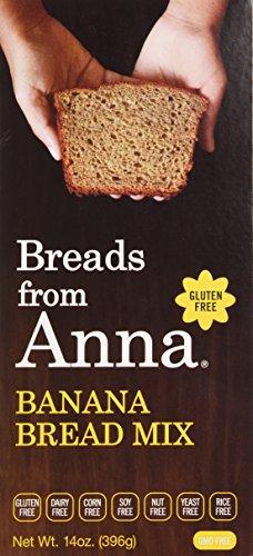 Bread Apple Nut - Breads from Anna, Banana Bread Mix, Gluten yeast soy rice corn dairy and nut free, 14 oz.