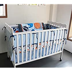 New 7 Pieces Baby Boy Sport Crib Bedding Set