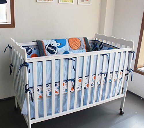 New 7 Pieces Baby Boy Sport Crib Bedding Set F.C.L CBSB0001