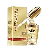 Women Pure 24K Gold Essence Anti Wrinkle Moisturizing Hyaluronic Acid Liquid Rejuvenate Tired Skin, While Providng a Soft