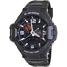 Casio GA1000-1A Mens G-Shock G-Aviation Compass Black Resin Strap Band Black Watch