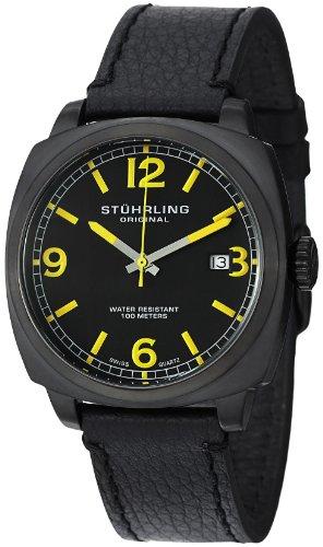 Stuhrling Original Men's 451.33522 Leisure Eagle Square Swiss Quartz Date Watch