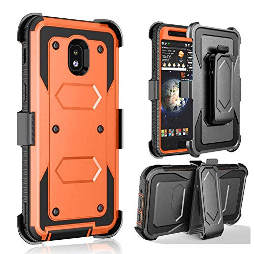 J West Galaxy J3 2018 Case,Galaxy J3 Emerge 2018 Case,Galaxy J3 Star  Case,Galaxy Express/Amp Prime 3 Case,Full Body Protective Case with Belt  Clip for
