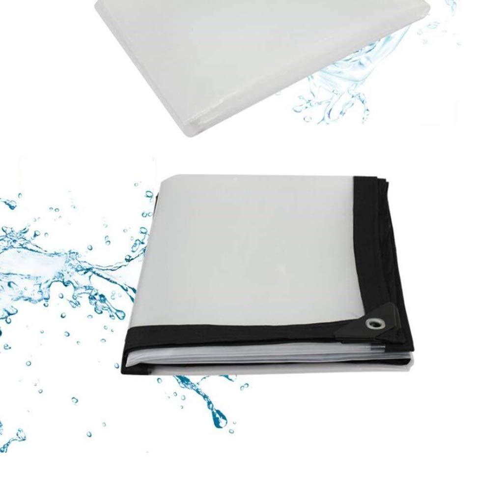 3x4m AJZXHE Plan Transparente BÂche Transparent épaississant Liseret Plastique poreux bÂche imperméable fenêtre Balcon Culture de Serre Film Tissu imperméable épaissi (Taille   4x5m)
