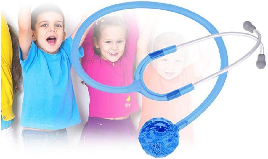 WSN Estetoscopio pediátrico, médico de enfermería de un Solo Lado, atención Veterinaria con tecnología AFD Ajustable, Monitor de Enfermera, Estetoscopio, Cabeza de Cristal,Azul