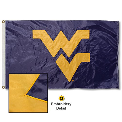 West Virginia University Embroidered and Stitched Nylon Flag