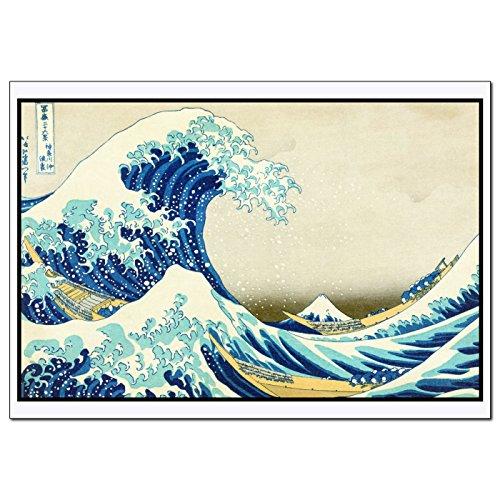 Young N Refined The Great Wave Off Kanagawa Print of Painting Famouse Artwork by Katsushika Hokusai fine Art Decoration of Wood Block Art (16x20)