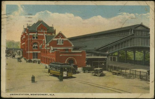 Union Train Station (Vintage Montgomery Alabama Railroad Postcard) (#A-71212) (Vintage Union Postcard)