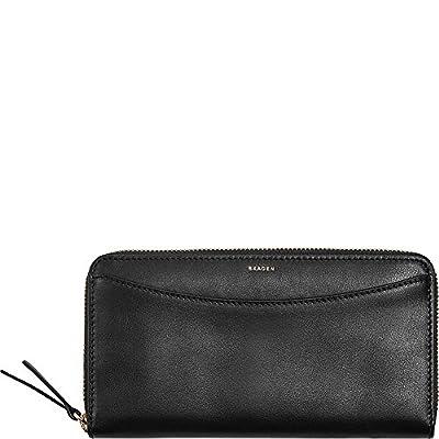 Skagen Continental Leather Zip RFID Wallet