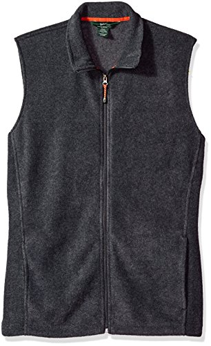 Woolrich Men's Tall Size Andes II Fleece Vest Long, Charcoal Heather, Large