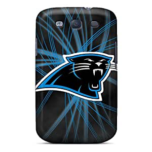 Scratch Resistant Cell-phone Hard Covers For Samsung Galaxy S3 With Support Your Personal Customized Realistic Carolina Panthers Image AlissaDubois