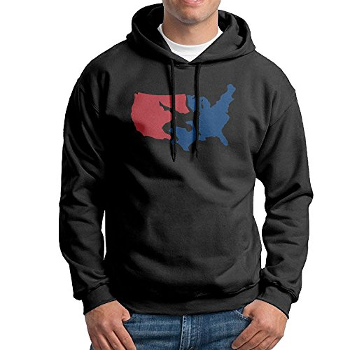 USA Map Wrestling Hoodie Novelty Fleece Sweatshirts For Mens Size (Usa Map Mens Hoodie)