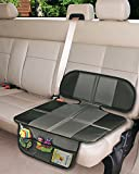 Car Seat Protector - Extra Storage Pocket Thickest Padding Protection for Child & Baby Cars Seats - Dog Mat - Non Slip and Waterproof Protects Automotive Vehicle Upholstery