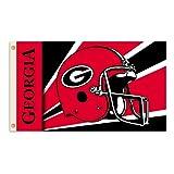 NCAA Georgia Bulldogs 3-by-5 Foot Flag with Grommets - Helmet Design