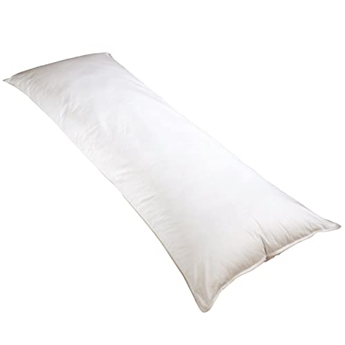 Newpoint 100-Percent Cotton 20-Inch-by-54-Inch Body Pillow, White