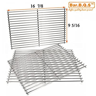 Bar.b.q.s Stainless Steel Cooking Grid Replacement 68763 for Select Gas Grill Models by Charbroil, Kenmore and Others, Set of 3