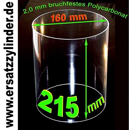 Vetro di ricambio (policarbonato) 215X 160mm www.ersatzzylinder.de