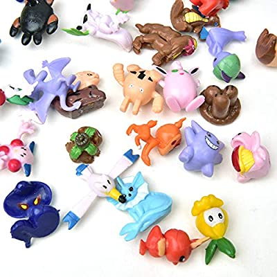 AnyGo Animal Pokemon Mini Action Figures Toys Set Storage for Kids Christmas Party Decoration Boys Girls Children Birthday Toy 152pcs